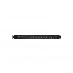 Zosilňovač SHOW PAX-240, rack, 240W / 4Ohm / 70V / 100V, 5 kanálový zmiešavač
