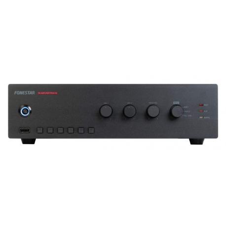 Kompaktná rozhlasová ústredňa FONESTAR pre 100V * 30W * USB/MP3 prehrávač * FM tuner