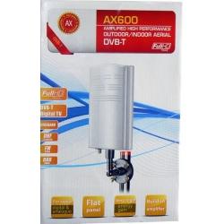 DVB-t anténa aktívna so zosilňovačom vonkajšia AX600 zisk 28 dB