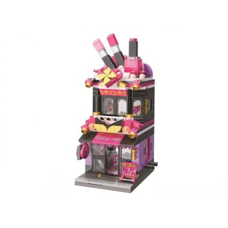 Stavebnica QMAN CITY CORNER C0103 Obchod s kozmetikou Trendy