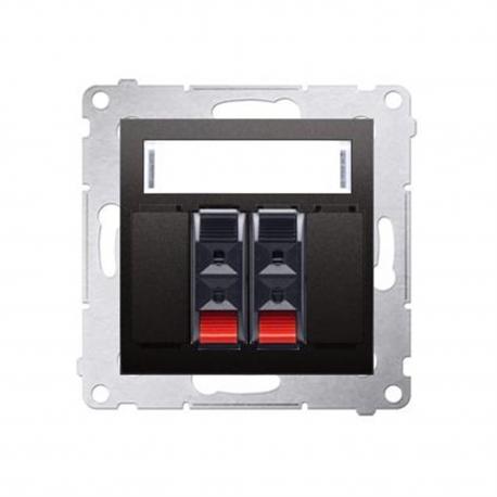 Zásuvka reproduktora Simon 54 premium 2-násobná antracit